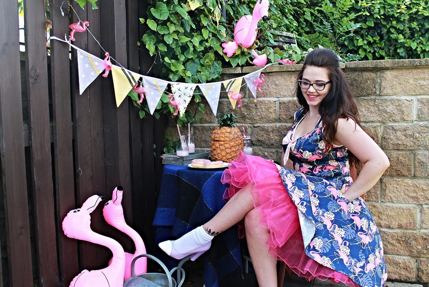 A right good garden party c/o Lady V & Totally-Funky // Flamingo Isabella Dress & Lavender Yull Shoes // OOTD